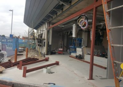 Whiston Hospital Steel Beams